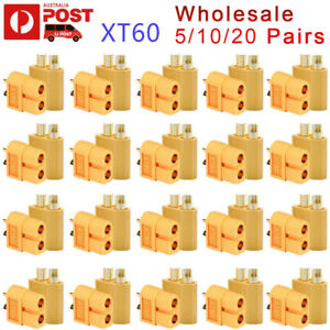 Quality-5-10-20-Pairs-XT60-XT-60-Female-Male-Bullet-Connectors-RC-LiPo-Battery