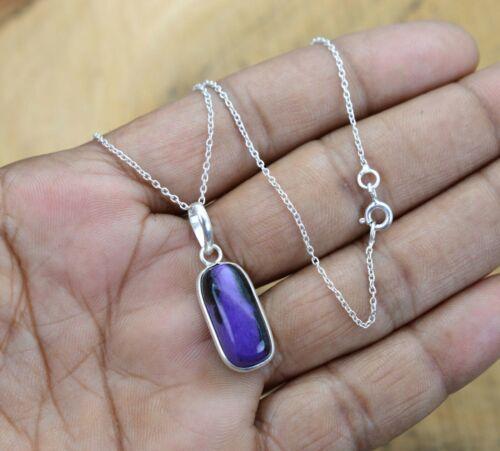 Charoite 925 Sterling Silver Gemstone Pendant w// or w//o Chain~ DivineSutraSilver