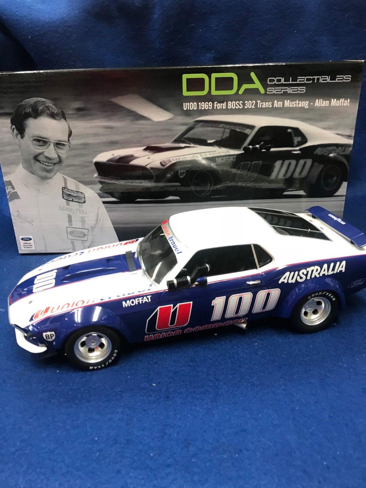 1 18 Allan Moffat Racing  U100 1969 Ford Boss 302 Trans Am Mustang RARDDA18003