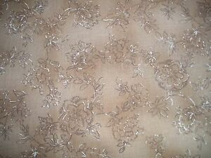Dark-Cream-Quilting-Fabric-with-Flowers-and-Leaves-50cm-piece