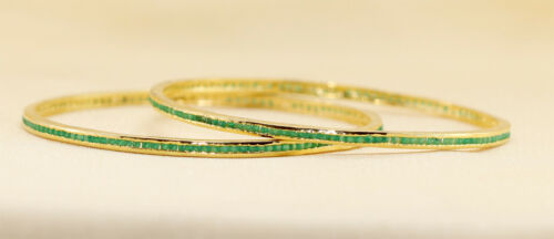 Exclusive Zircone Cubique Designers vert émeraude Bracelet 2B M1//14 19
