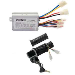36V 800W Speed Controller Throttle Grips Ignition Key Switch E Bike Scooter ATV