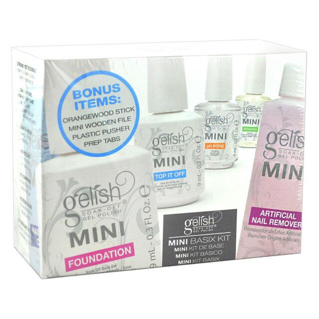 Mini Basix Kit Nail Harmony Gelish UV Gel Bouns Items