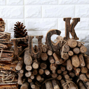 Wooden DIY Ornament Wall Party Wedding Retro Hanging Decor Letters Alphabet Home