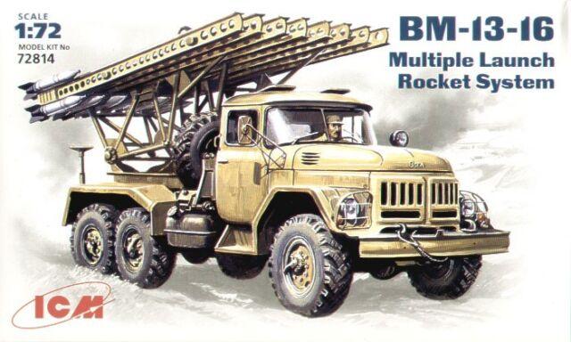 ICM 1/72 BM-13-16 sistema de cohete de lanzamiento de múltiples # 72814