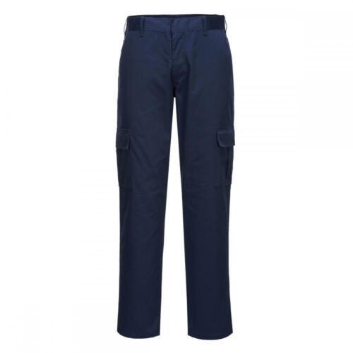 Portwest Slim Fit Combat Cargo Trousers Smart Work Pants Multiple Pockets C711