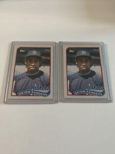 1989 Topps Deion Sanders #110T Baseball Card - Lot of 2