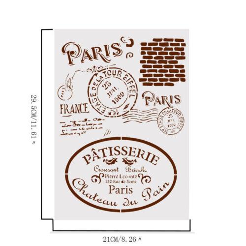 retro paris layering stencils for walls painting scrapbooking stamp album de  LZ