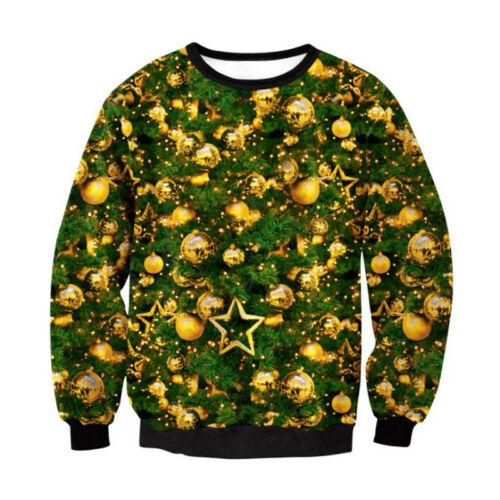 Ugly Christmas Sweater Women Men Xmas Jumper Sweatshirt Pullover Tops Hoodies