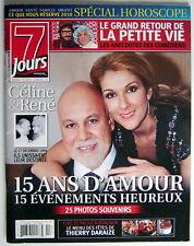 REVUE 7 JOURS DU 25 DÉCEMBRE 2009, 116 PAGES, CELINE DION