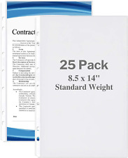 Dunwell Legal Size Sheet Protector Standard Weight 25 Pack 85x14 Legal Pa