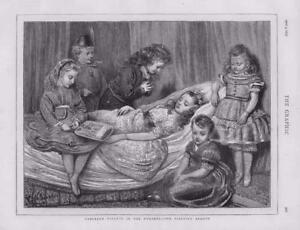 1873 - Antique Print FINE ART Tableaux Vivants Nursery Sleeping Beauty   (055)