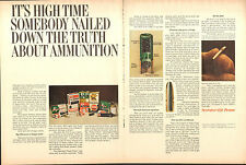 1970 2 Page Print Ad of Remington Peters Power Piston Kleanbore Power-Lokt Ammo