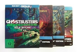GHOSTBUSTERS-Limited-Collection-Box-3-Steelbook-POPART-Bluray-OOP