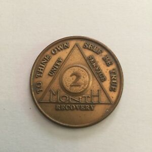 Vintage-Alcoholics-Anonymous-AA-2-Month-Metal-Token