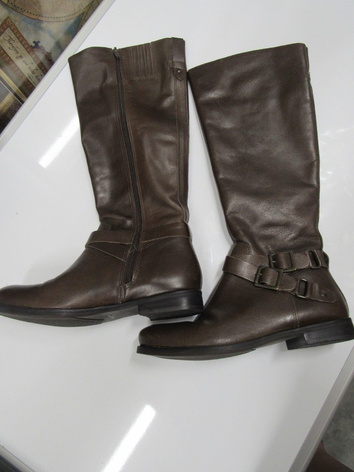 NEW Matisse Britain Women,s Leather Boots 7M Britain Brown (S111)