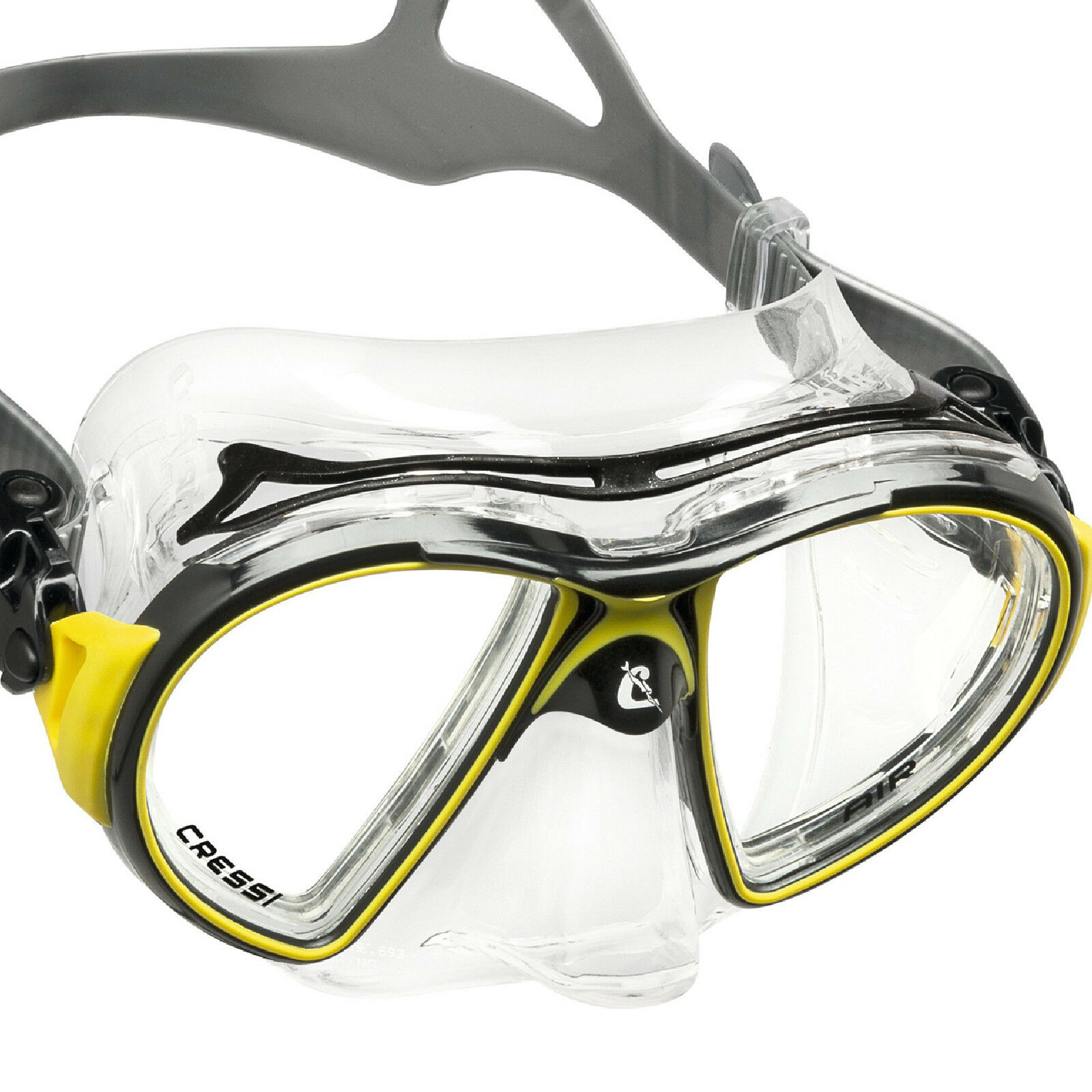 RO1 MASCHERA CRESSI SUB AIR CRYSTAL FRAME yellow