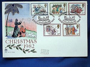 22  CHRISTMAS 1982 FIRST DAY COVER  POSTED 17 NOV 1982  HYTHE KENT - Walsall, United Kingdom - 22  CHRISTMAS 1982 FIRST DAY COVER  POSTED 17 NOV 1982  HYTHE KENT - Walsall, United Kingdom