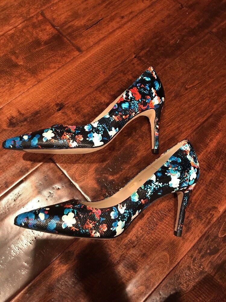 L.K. Bennett Dark NEW Blue Floral Heels, Size 9 (US) 39 (EU) NEW Dark  345 cb13d6