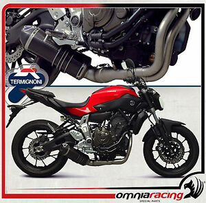 Details about Termignoni Y104090CV - Yamaha FZ-07 / MT-07 2014> Full  Exhaust System Carbon