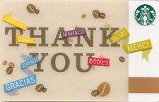"STARBUCKS COFFEE CARD ""THANK YOU 2013"" ©2013 ORIGINAL MINT"