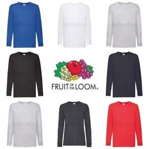 Fruit-of-the-Loom-Boys-Girls-Long-Sleeve-Valueweight-T-Shirt
