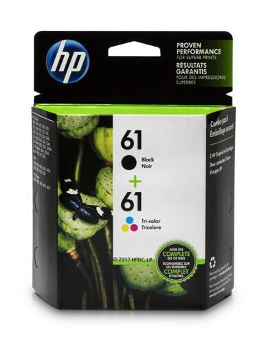 NEW Genuine HP 61 Black Ink Cartridge and Tri-Color Ink Cartridges (CR259FN)