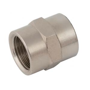 BSP Female to Female Equal Bush BSPP Adaptors Connecting Socket Brass Nickel