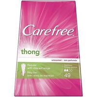 Carefree Thong Pantiliners With Wings Lot Of 2 Pkg Of 49 Liners