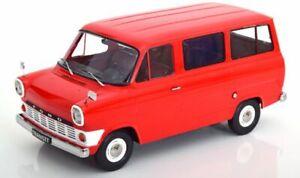 SUPERB-KK-SCALE-1-18-DIECAST-1965-FORD-TRANSIT-BUS-MINIBUS-IN-RED-KKDC180463