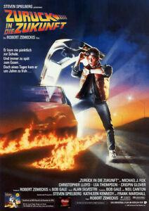 ZURÜCK IN DIE ZUKUNFT 1 - Orig.KinoPlakat A1 - Michael J. Fox - gefaltet
