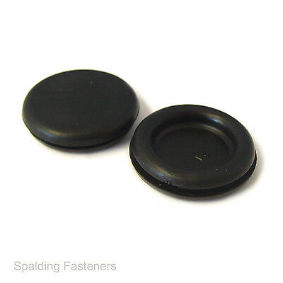 Metric Black Rubber Open Wiring Grommets 6 to 50mm