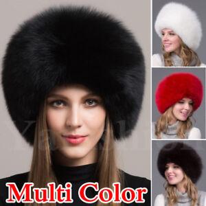 a11e36b1dc1 Women Real Fox Fur Hat Russian Winter Warmer Ushanka Cossack Ski ...