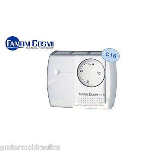 Termostato ambiente a rotella c16 fantini e cosmi for Istruzioni termostato fantini cosmi