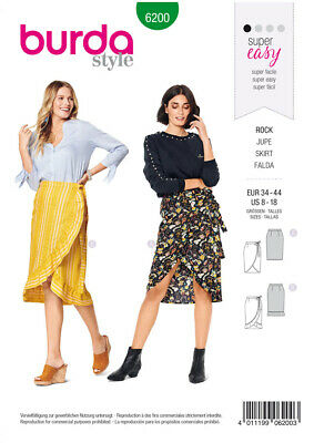 Burda Sewing Pattern 6340 Skirts 8-18