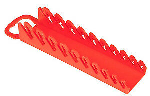 ERNST MANUFACTURING INC 5076 11 Slot Gripper Narrow Red Stubby Wrench Holder