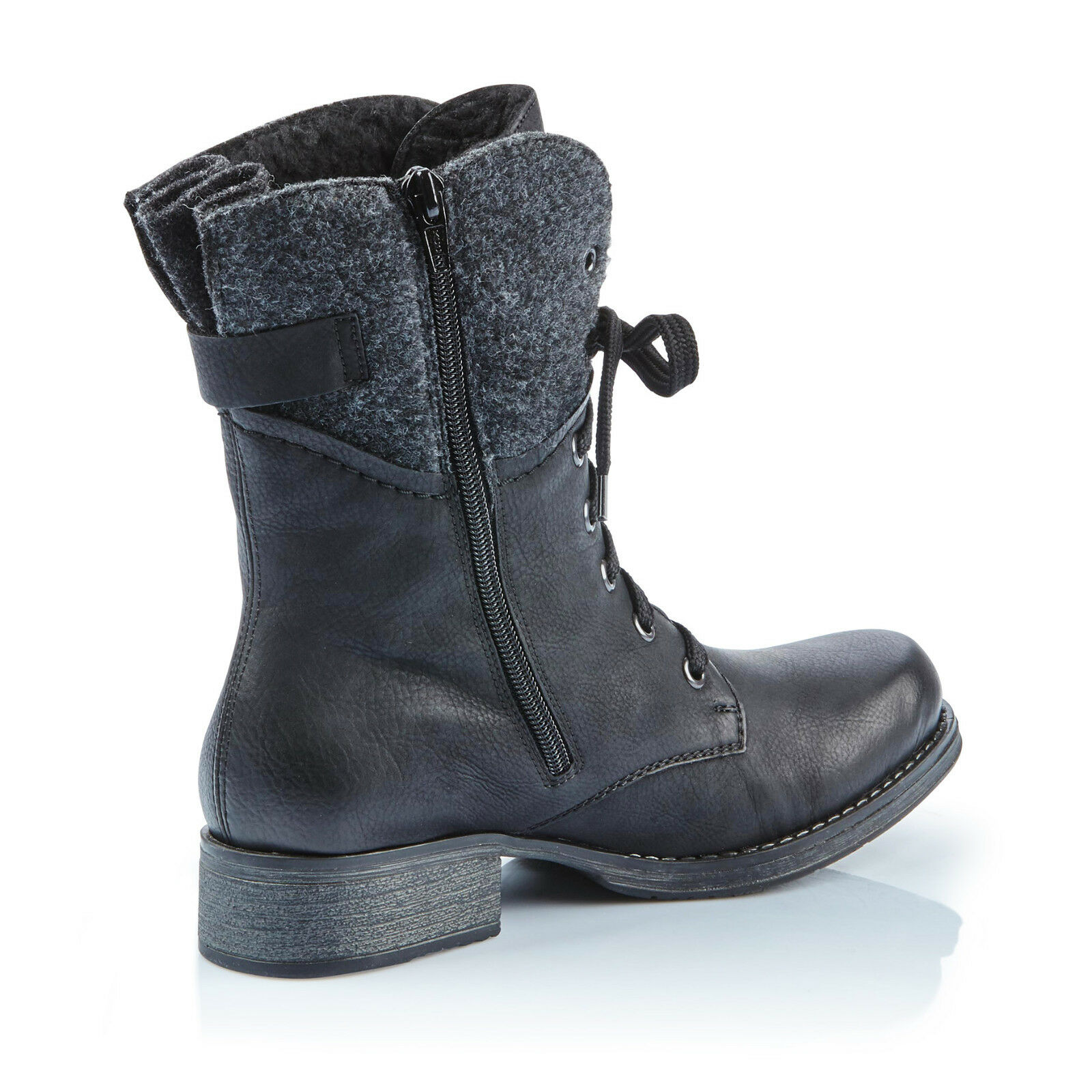 Rieker Women's Boots Ankle Boots Laced Boots Black Black Black y9704 NEW a9422e