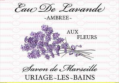 1692 MüHsam Bügelbild Shabby Lavendel Lila Chic Schrift Paris French Vintage A4 No Bügelbilder Basteln & Kreativität