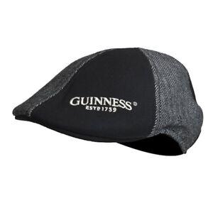 73cf76ac340ab Guinness Grey   Black Ivy Cap Gaelic Irish Ireland Classic Panel ...