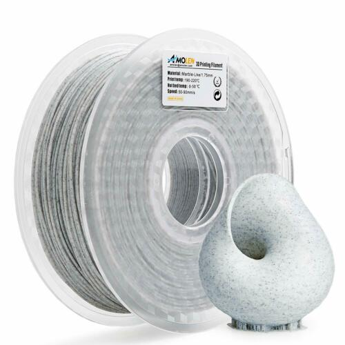 AMOLEN PLA 3D Printer Filament, Marble Color, 1KG(2.2LB), 1.75mm