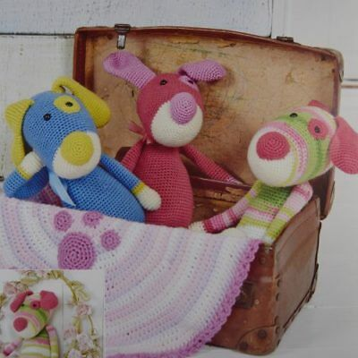Stylecraft 9215 Crochet Pattern Puppy Toys /& Paw Print Blankie in DK