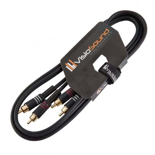 Stereo DJ Hi-Fi Audio Cable Twin Phono 2 x RCA to 2 x RCA Phono Plug Twin Lead