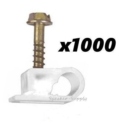 Humoristisch 1000 Piece Single White Flex Clips Rg6 Coaxial Cable Catv Lot Sky32265sw X10