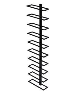 weinregal flaschenregal 116 cm aus metall f r 10 flaschen wandregal h ngeregal ebay. Black Bedroom Furniture Sets. Home Design Ideas