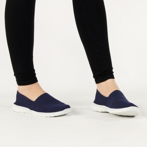 Shumo NADIA Ladies Womens Soft Flexible Contrast Outsole Slip On Trainers Shoes