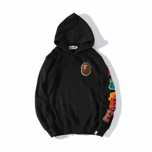 Men-039-s-A-Bathing-Ape-Bape-Singe-Tete-Casual-Sweat-a-Capuche-Pull-a-Manches-Longues-Pull