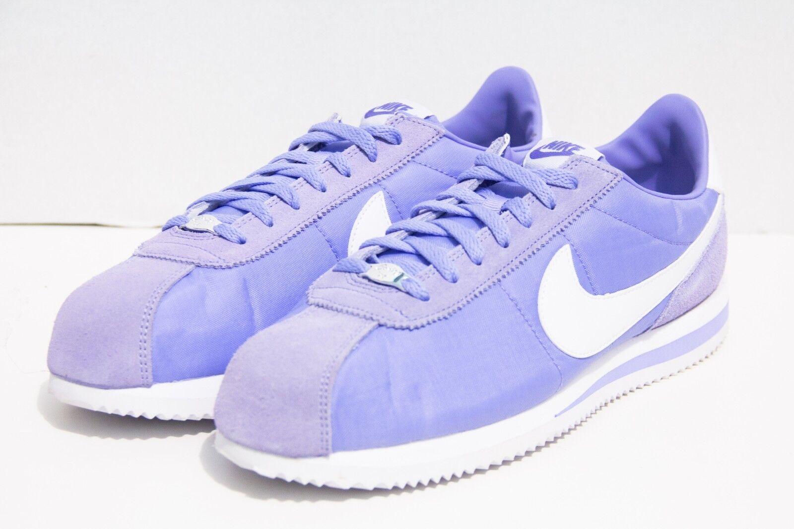 Nike Men's Cortez Basic SE Size 11.5 Twilight Pulse White Purple shoes AT4650 400