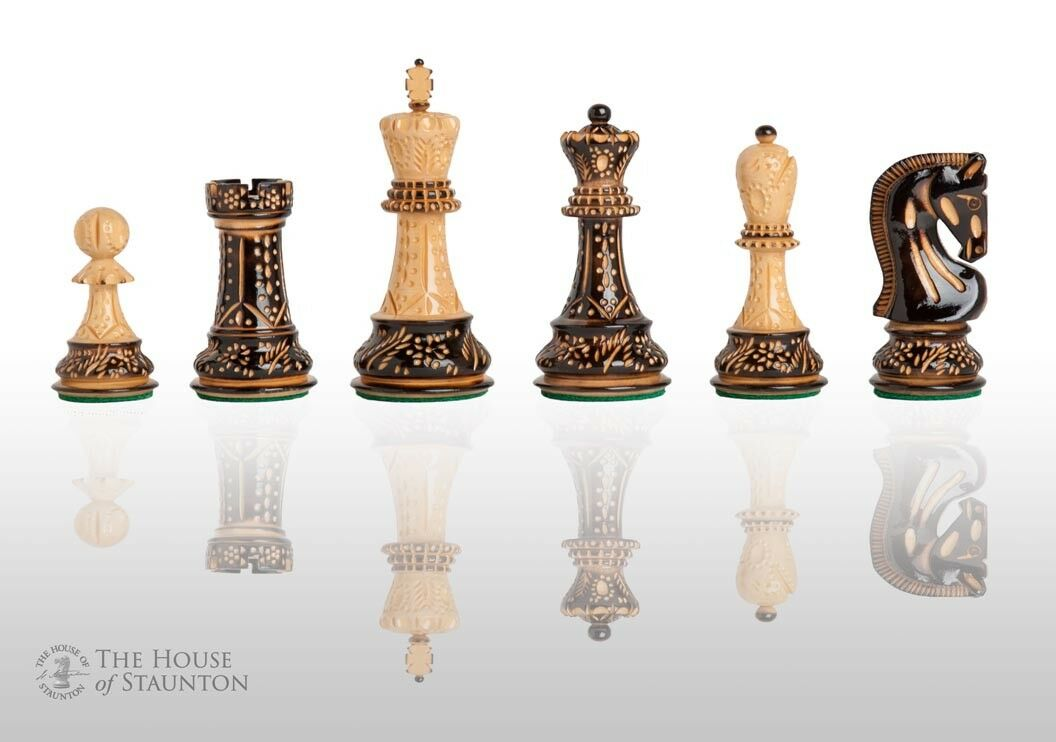 The Burnt Zagreb '59 Set of Chess Set Set Set - Pieces Only - 3.875  King fc533b