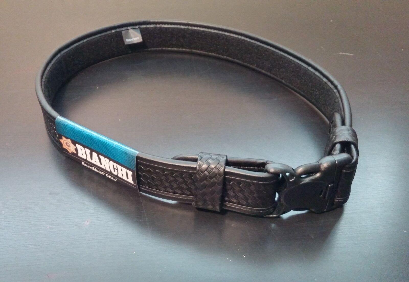 "Bianchi 23704 AccuElite Basketweave 2/"" Width Duty Belt Size Medium 34/""-40/"""