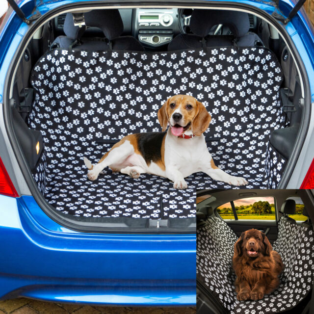 Paw Car Boot Liner Rear Back Hammock Seat Cover Waterproof Dog Protector Mat